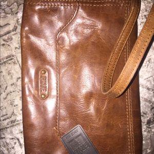 Frye distressed leather crossbody